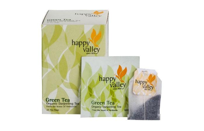 Healthy Drinks For Kids - Happy Valley Organic Darjeeling Green Tea Bags