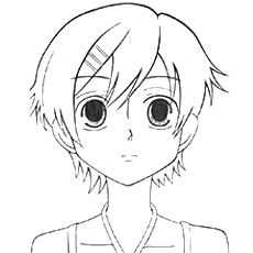 anime character haruhi fujioka - Anime Girl Coloring Pages Print