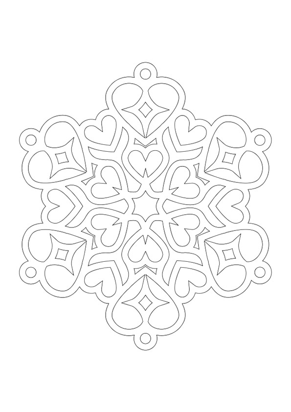 Heart-Shaped-Snowflake