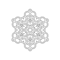 Heart Shaped Snowflake Coloring Page Top 20 Pages For Your Little Ones