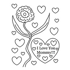 I Love You Mom Coloring Pictures  Coloring Pages For Kids and All