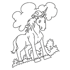 Indian Unicorn Equus Assinoceros Coloring Pages