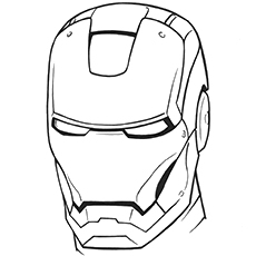 free printable iron man helmet coloring pages - Iron Man Coloring Pages Printable