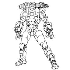 Iron Monger Coloring Page Free Printable