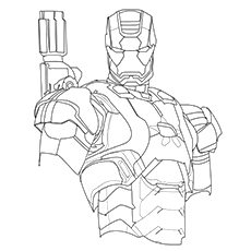 Iron Man Coloring Pages Of Patriot