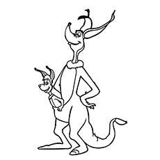 Jane Kangaroo Printable Coloring Pages