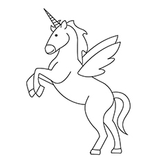 Coloring Pages of Japanese Unicorn