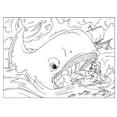 Jonah Minor Prophets in the Bible Stories Coloring Page