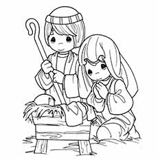 nativity coloring pages joseph and mary - Nativity Coloring Pages For Kids