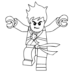 lego ninjago kai coloring pages - Lego Ninja Coloring Pages