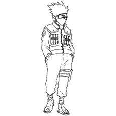 Kakashi Hatake Printable Coloring Pages