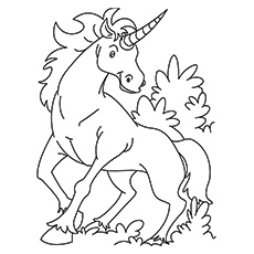 kirin unicorn printable coloring pages - Coloring Page Unicorn Rainbow