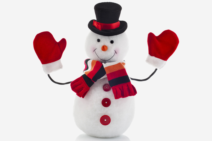 Christmas Activities For Toddlers - Lamp Snowman