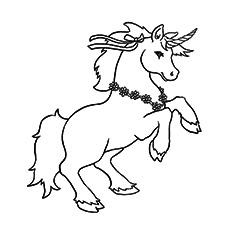 Unicorn Named Lancelot Coloring Pages