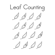 Coloring Sheet of Leaf Counting