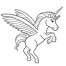 beautiful lila unicorn pegasus coloring sheets