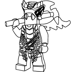 ninjago lizaru coloring pages - Lego Ninja Coloring Pages