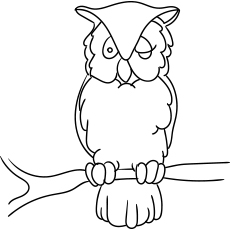 Long Eared Owl Coloring Pages