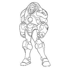 Mark of Iron Man to Color Sheet