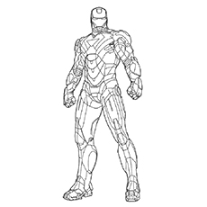 Mark 2 of Iron Man to Color
