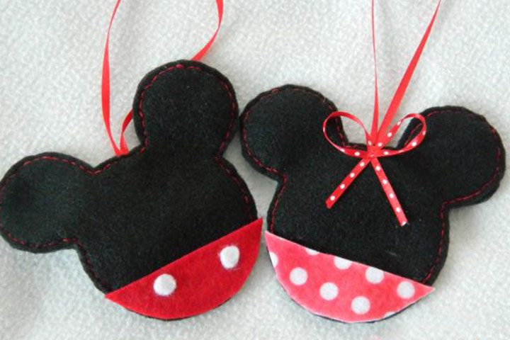mickey mouse felt christmas tree ornaments