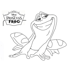 Naveen as a Frog Coloring Page