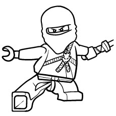 Ninjago Kai into Action Colouring Sheets