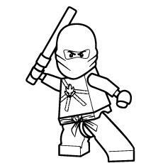 Free Pintable Ninjago Kai Weapon In Hand Coloring Pages