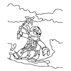 Ninjago Shurikens of Ice Coloring Pages