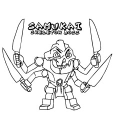 ninjago samukai skeleton boss coloring page