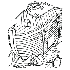 Noah's Ark Coloring Page to Print Free