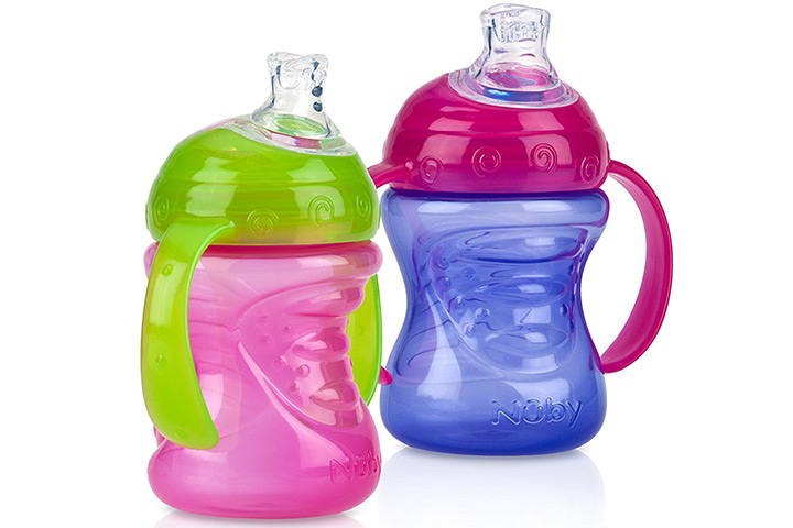 Nuby Two Handle No Spill Super Spout Grip N' Sip Cup