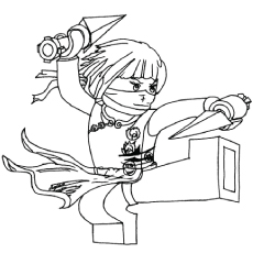 Ninjago Nya Coloring Pages