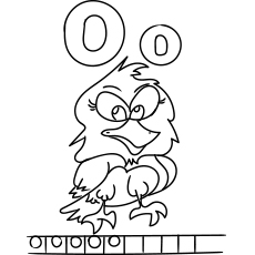 O for Owl Colouring Sheets