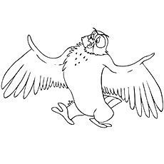 From the Winnie Pooh Owl Coloring Pages