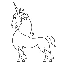 Coloring Pages of Persian Unicorn to Print