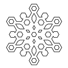 Snowflake Plates Picture to Color