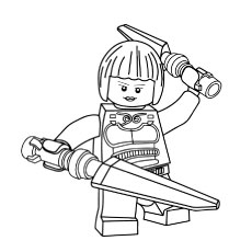 Ninjago Princess Nya Coloring Pages