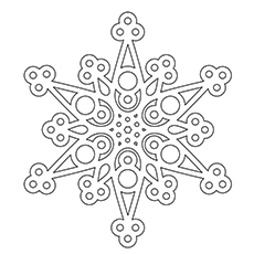 top 20 snowflake coloring pages for your little ones - Snowflake Coloring Page