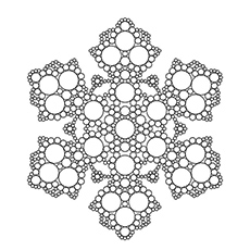 Snowflake Rimed Crystals Pic to Color