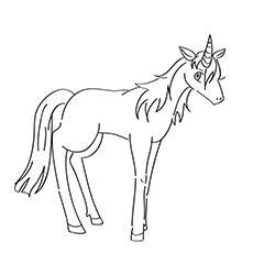 Unicorn Ruva Coloring Sheet