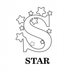 S For Star Coloring Sheet
