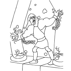 samson and delilah coloring pages - samson strength coloring pages coloring coloring pages