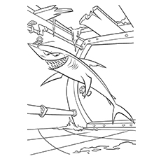 Scary Shark Coloring Page to Print