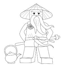 Ninjago Sensei Wu Coloring Pages