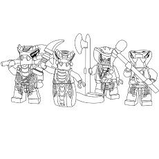 Ninjago Serpentine Coloring Pages
