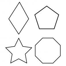 Different Shapes with Star Coloring Pages