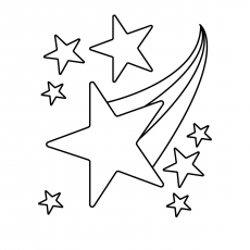 Charmant Star Falling From Sky Coloring Pages