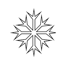 sided snowflake printable to color free