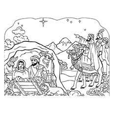 nativity coloring pages shepherds silent night - Nativity Coloring Pages For Kids